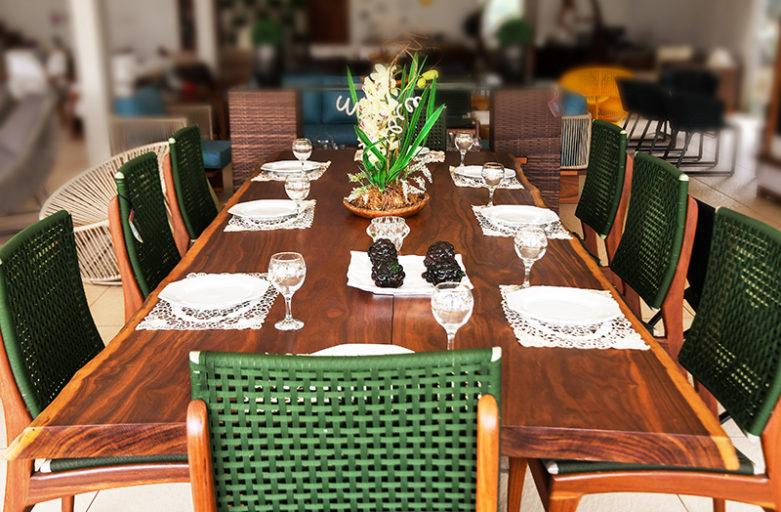Mesas de Jantar em Madeira Cumarú: elegância e alta qualidade!
